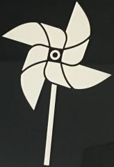 pinwheel car decal