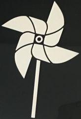 pinwheel car decal