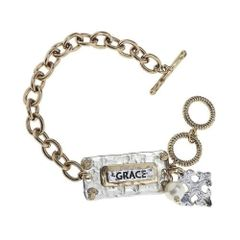 two-tone toggle bracelet - grace