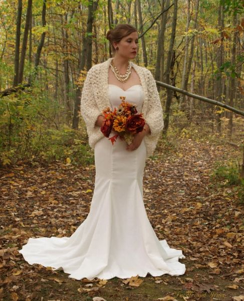 Winter Bridal Shrug