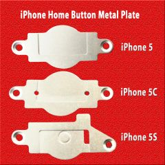 Apple iPhone Home Button Metal Plate for 5, 5C, 5S Replacement