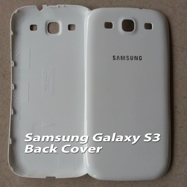 Samsung Galaxy S3 Battery Back Cover, i9300 White / Black Color