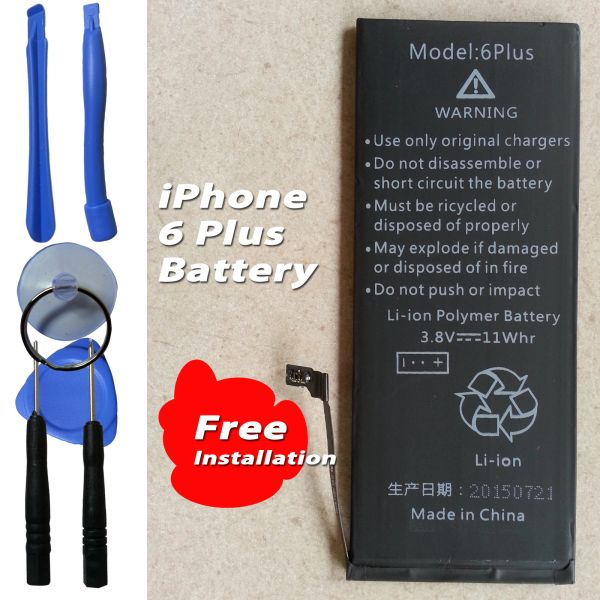 Apple iPhone 6 Plus Internal Battery Capacity: 2900mAh + Tools Kits