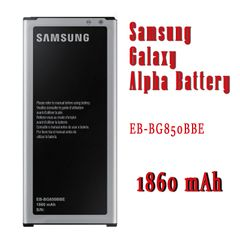 Samsung Galaxy Alpha Battery, G850 G8508 Series EB-BG850BBE Capacity: 1860mAh