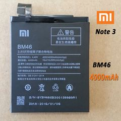 New Internal Battery for Xiaomi Note 3 Pro BM46 4000mAh, Note 3 BM3A 3400mAh