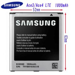 New Battery for Samsung Galaxy Ace4 / Ace3 LTE Capacity: 1800mAh EB-BG314BBE B105BE SM-G314 GT-S7275