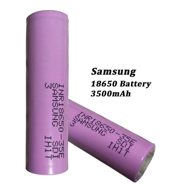 Samsung 18650 Battery capacity: 3500mAh 3.8V Max Charge 4.38V
