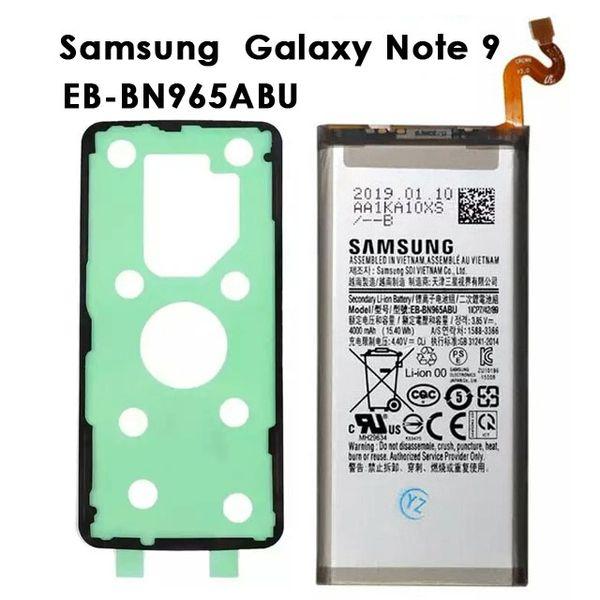 Samsung Galaxy Note 9 Battery 4000mAh EB-BN965ABU N9600 SM-M9600 SM-N960F