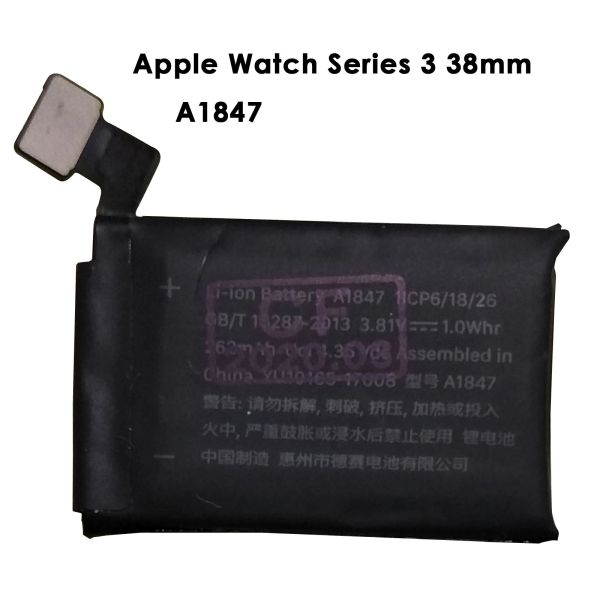 Battery Replacement for Apple Watch GPS Series 3 38mm A1860 262mAh