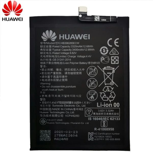 Battery replacement for HuaWei P20 HB396285ECW 3400mAh Honor 10 Honor 10 Lite