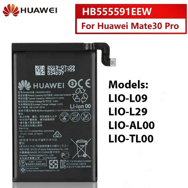 Battery Replacement for Huawei Mate 30 Pro HB555591EEW 4500mAh