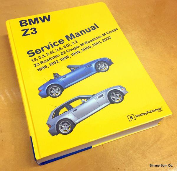 (6-00850) bmw z3 bentley repair manual (hard cover) (bz02)
