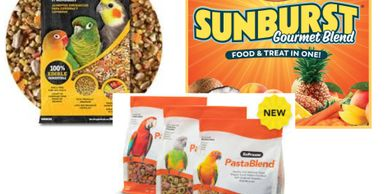 bird food and supplies, cages