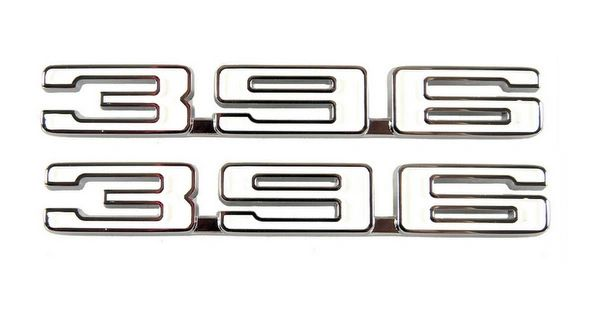 "1968 Camaro ""396"" Fender Emblem Pair"