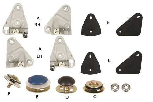 F Body Front Door Glass Mounting Kit