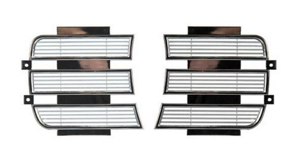 RS Chrome Headlight Lamp Bezel Doors