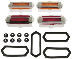Side Marker Lamp Light Lens Assembly Kit