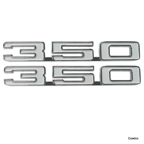 "68 Camaro ""350"" Fender Emblem Pair"
