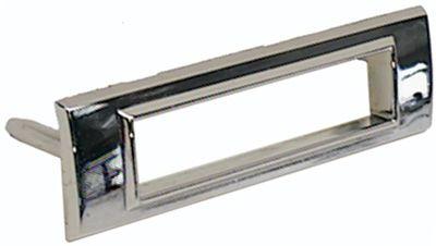 Chrome Sidemarker Light Bezel Rear