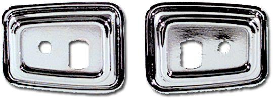 Deluxe Door Grab Handle Bezels Pair