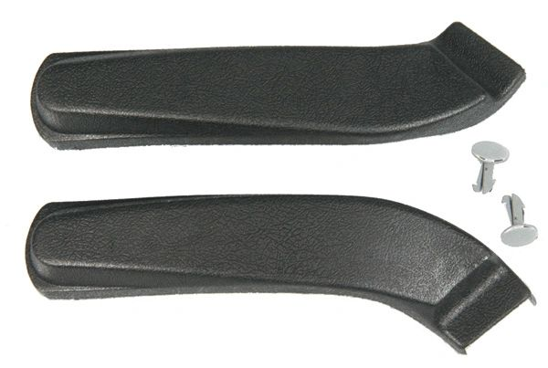 Front Seat Hinge Arm Covers w/ Clips