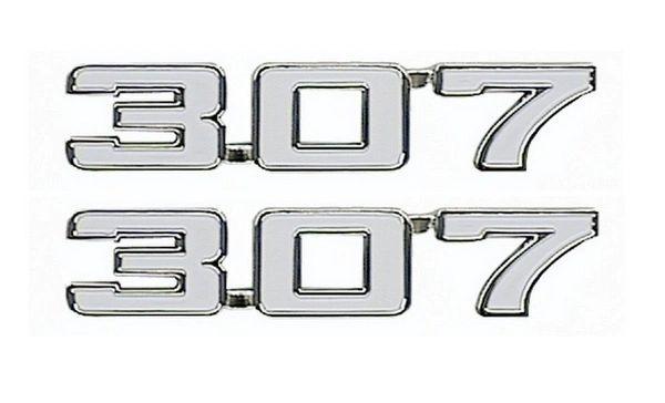 "1969 Camaro ""307"" Fender Emblem Pair"
