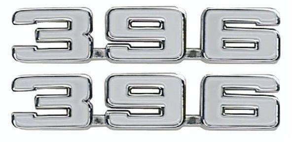 """""""396"""" Fender Emblem Pair, two (2) emblems"""