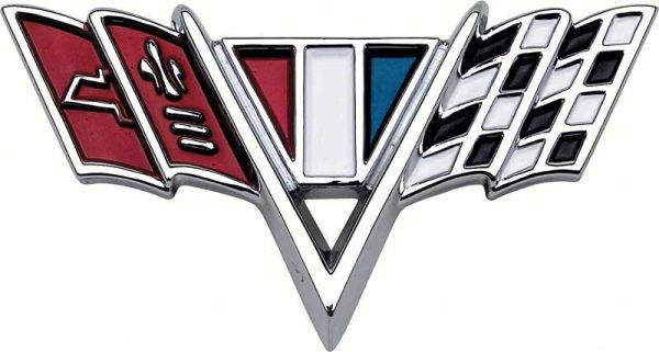 "Fender ""V"" Flag Small Block Emblem"