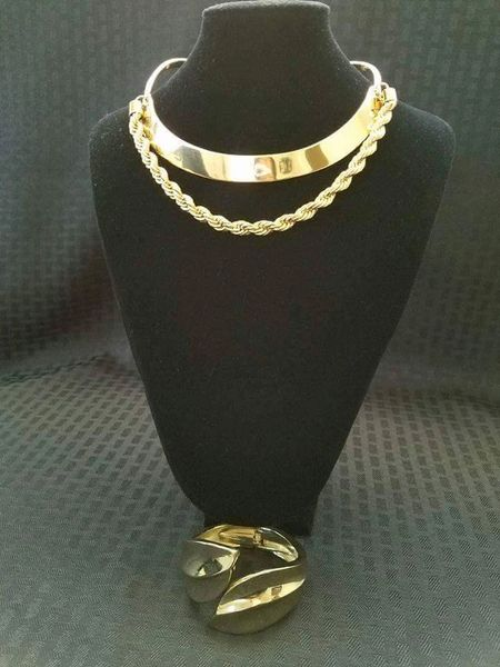 Choker with Rope Twist w/Bangel Set