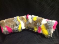 Pink Multi-Colored Fur Clutch