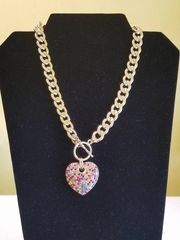 Gold Heart/Ball Toggle Set