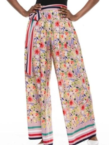 Palazzo Multi-Colored Pants