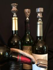 Black, Brown and White Wine Stopper