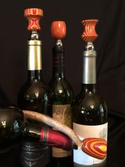 Red and Gold Wine Stopper