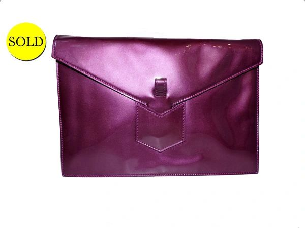 meilleure sélection ea5cd 3718c YVES SAINT LAURENT FLEUR CORRIGEE PATENT LEATHER, PURPLE