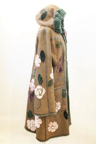 Zuki Sheared Beaver Reversible Coat Size Large Kmk
