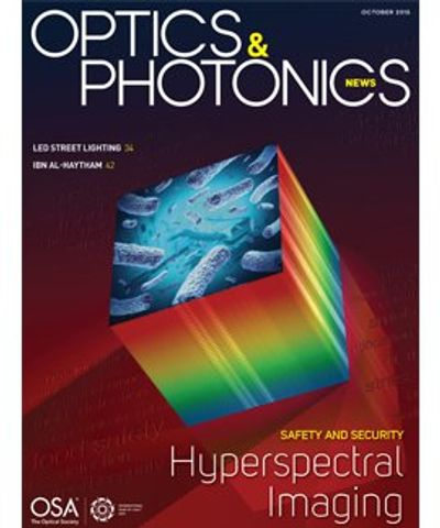 OPN Cover Image, Oct. 2015, Hyperspectral Imaging for Safety and Security by Valerie C. Coffey