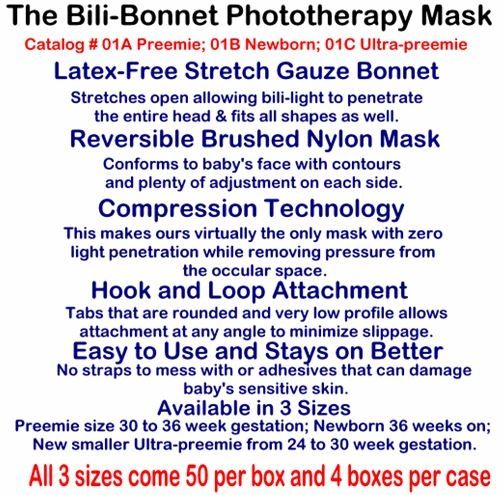 Small Beginnings Bili Bonnet Phototherapy Mask