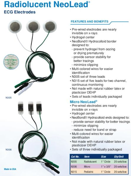 Neotech Radiolucent NeoLead Leadwires