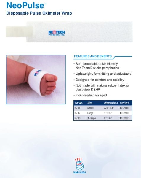 Neotech NeoPulse™ Disposable Pulse Oximeter Wrap