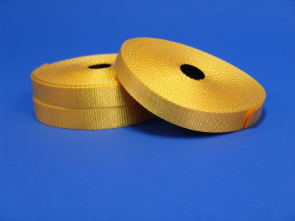 "Yellow Nylon Webbing, 1""x14yrds 50 per case"