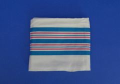 """Linens, Baby Blanket, Cotton, 30""""x40"""", Blue and Pink stripes, 100 per case"""