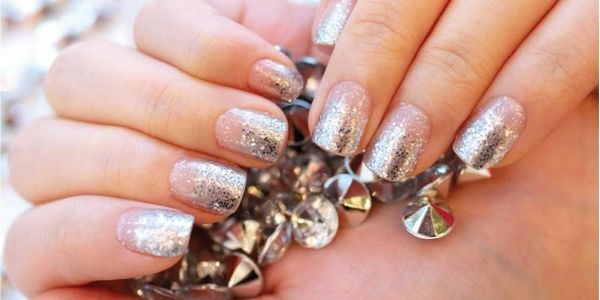 Color Street Nails are available in both casual and dressy designs.  Shown is Dripping in Diamonds.