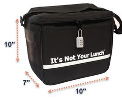 IT'S NOT YOUR LUNCH......... SIZE LARGE 10 x 10 x 7