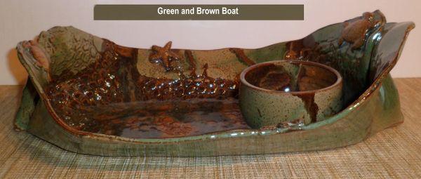 Pottery boats $45.00