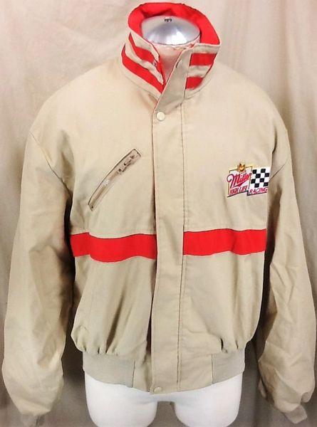Vintage 80's Miller Genuine Draft Racing (XL) Full Zip Up Crew Advertising Jacket