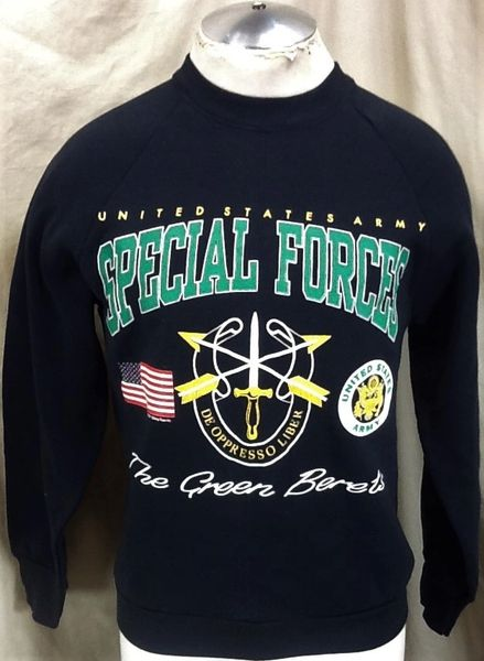 "New! Vintage 1991 United States Army ""Special Forces"" (Medium) The Green Berets Sweatshirt"