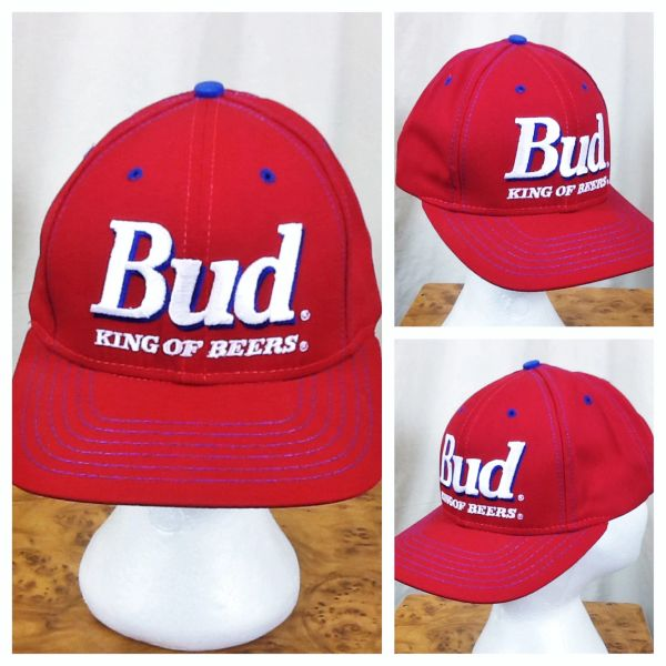 "Vintage 1995 Budweiser ""King of Beers"" Anheuser Busch Retro Breweriana Snap Back Hat"