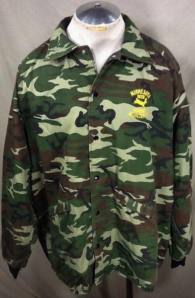 Vintage Minnesota Deer Hunting Association (XL) Retro Camo Snap Up Jacket