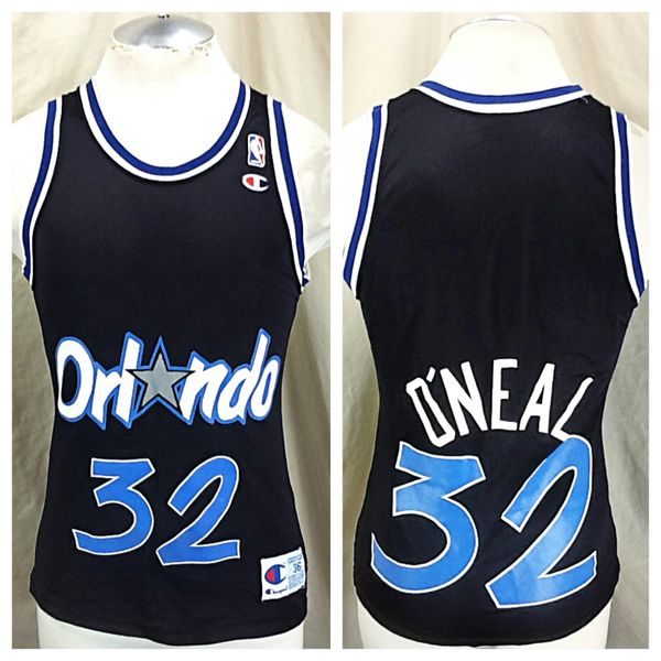 Vintage 90's Champion Orlando Magic Shaquille O'Neal #32 (36/Small) Graphic NBA Basketball Jersey